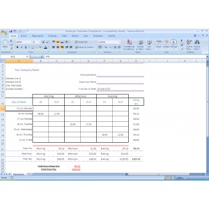Timesheet Excel Template Download