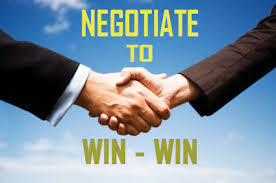 Negotiating to Win for Both Sides is the best way to go about it.